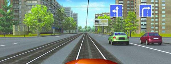 Движение и разворот через трамвайные пути ПДДюрист