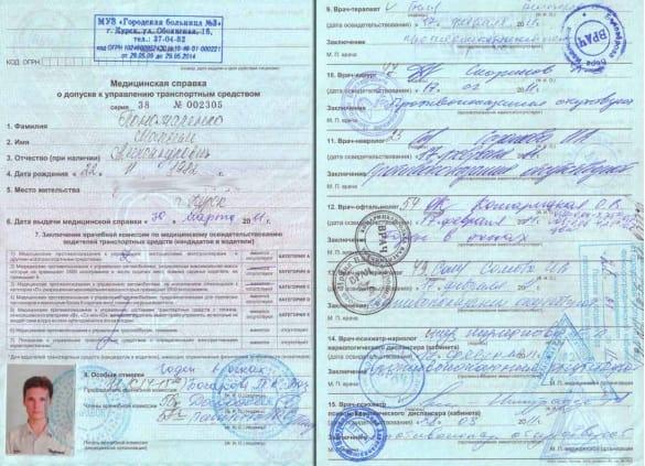 Медкомиссия на водительские права - как получить справку? ПДДюрист