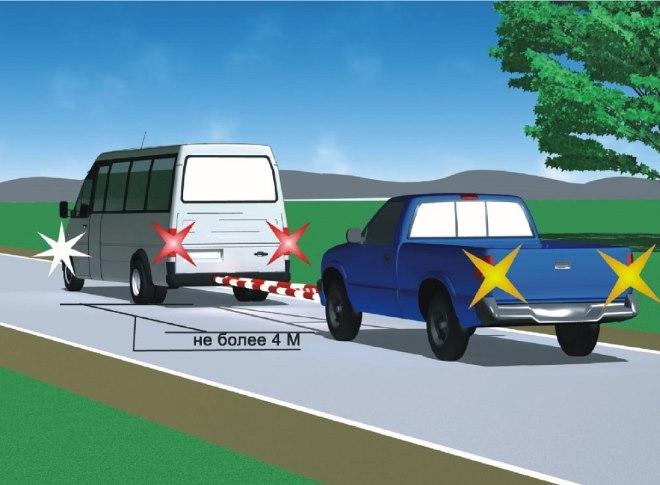 Правила буксировки транспортных средств ПДДюрист