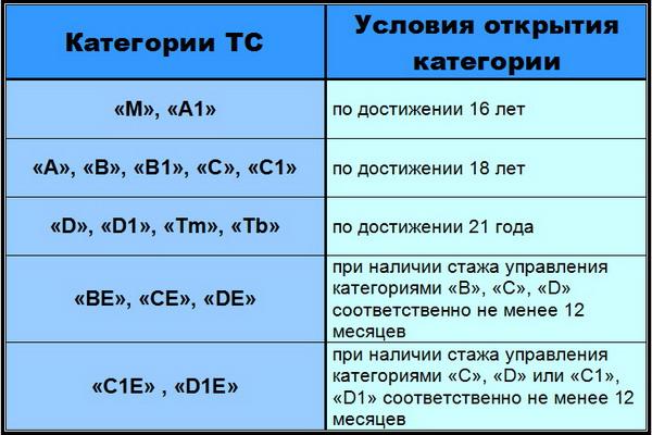 Со скольки лет в россии можно учиться и сдавать на права? ПДДюрист